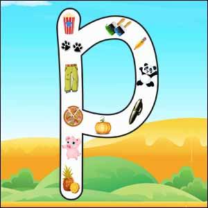 p alphabet poster
