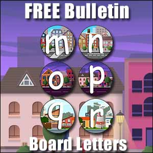 bulletin board letters m to r