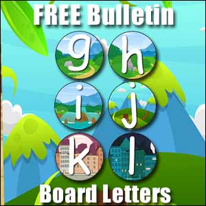 bulletin board letters g to l