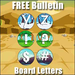 bulletin board letters y to #