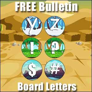bulletin board letters y to #