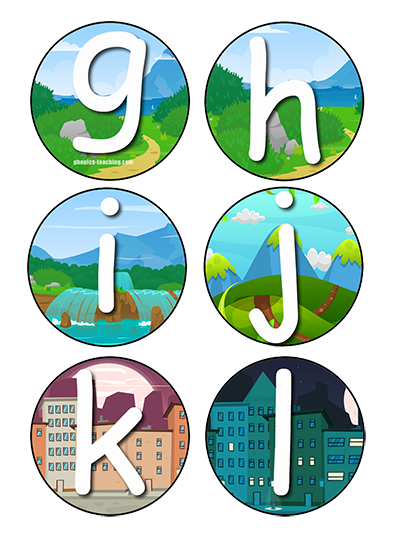 Bulletin Board Letters - g to l