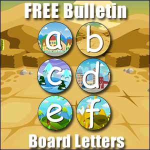 bulletin board letters a to f