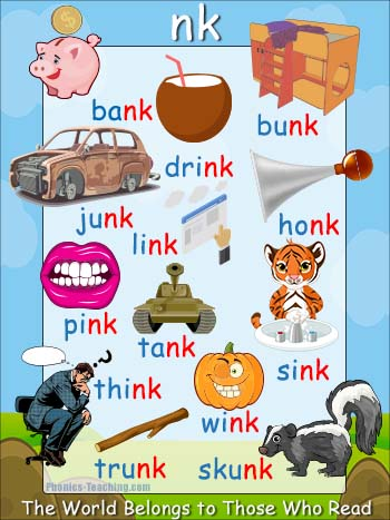 nk words - words ending in nk