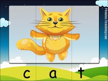 cvc word puzzle cat