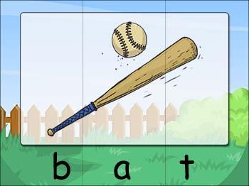 cvc word puzzle bat