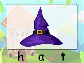 cvc word puzzle hat