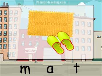cvc word puzzle mat