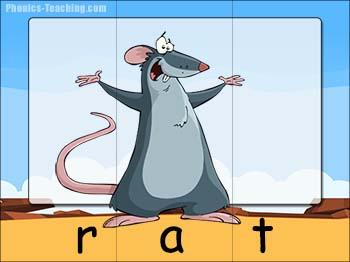 cvc word puzzle rat
