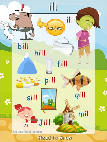 ill word family poster