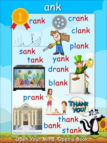 ank word family poster