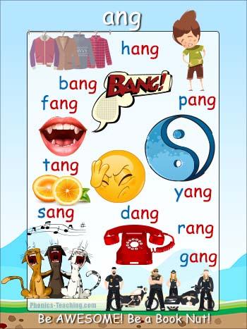 ang word family poster