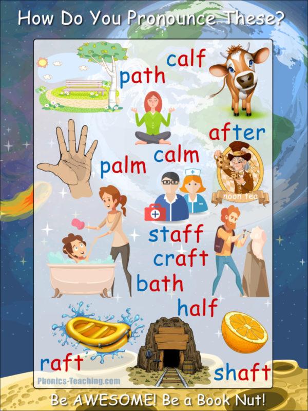 ar words phonics poster