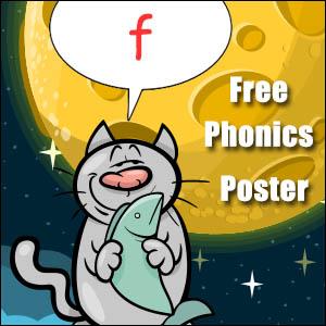 f cvc words poster