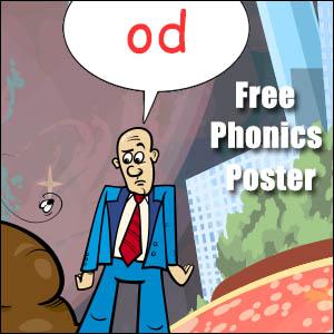 od word phonics poster