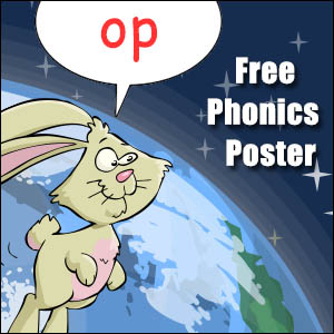 op words phonics poster