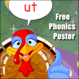 ut word family phonics poster