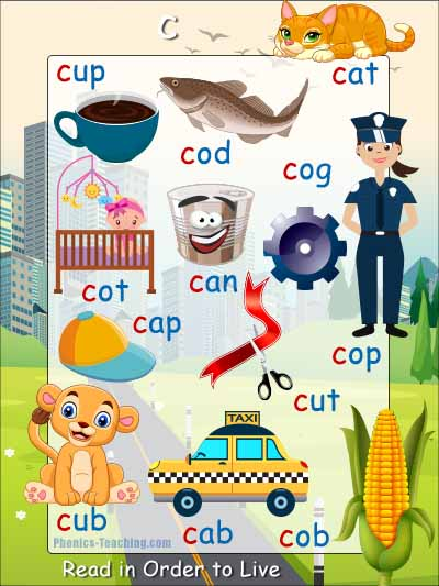 c cvc words poster