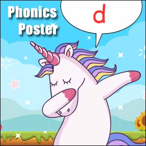 d cvc words poster