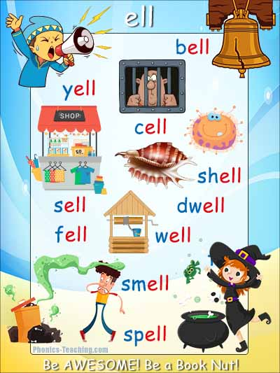 ell words  - spelling list poster