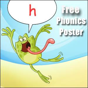 h cvc words poster