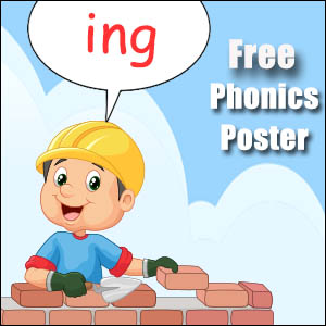 ing word endings poster