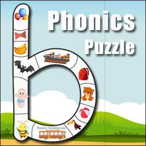 alphabet puzzle letter b
