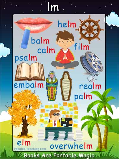 lm Words Poster with Pictures
