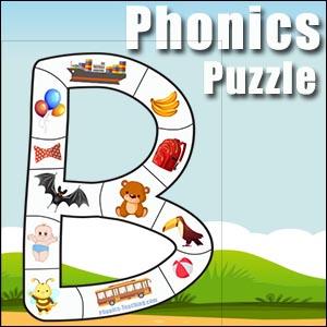 alphabet puzzle B