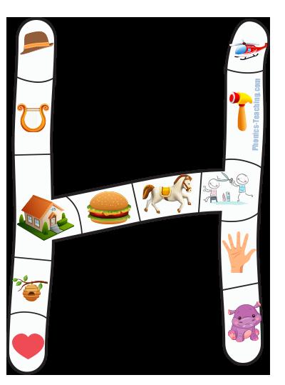 alphabet puzzle H
