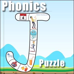 alphabet puzzle J