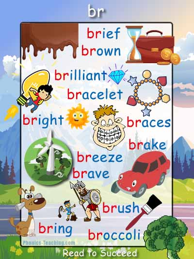 br words consonant blends