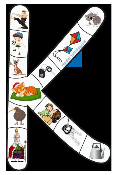 capital K alphabet puzzle
