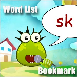sk word list - FREE Printable - sk sound words for phonics lessons