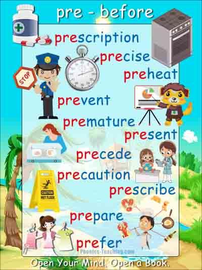 pre words