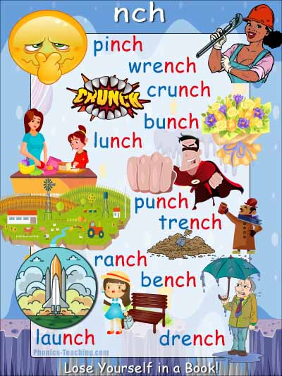 nch words phonics poster with pictures