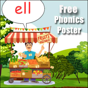 words with ell phonics poster